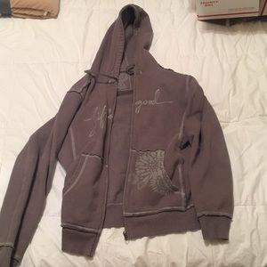 Life is good zip up hoodie